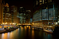 Chicago - Night View from Magnificent Mile