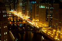 Night view on Chicago River 1
